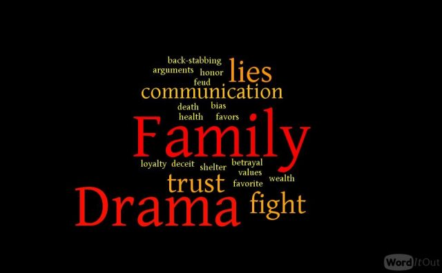 lies drama family fight bias favors back-stabbing