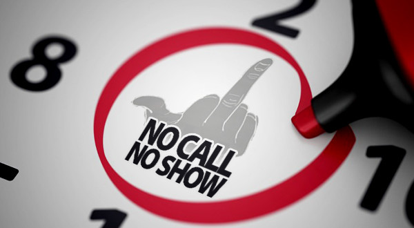 the middle finger flipping you off says no call no show