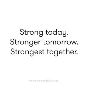 Strong today.  Stronger tomorrow.  Strongest together.